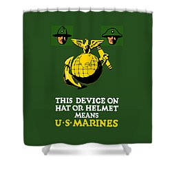 This Device Means Us Marines  Shower Curtain