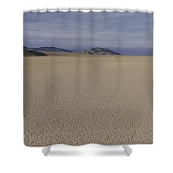 This Is A Dry Lake Pattern Shower Curtain by Panoramic Images