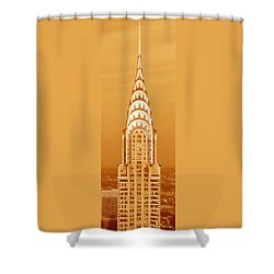 Chrysler Building At Sunset Shower Curtain by Panoramic Images