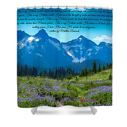 This Is My Fathers World 3 Shower Curtain by Lynn Hopwood