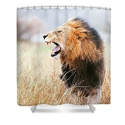 This Is Power Shower Curtain by Happy Home Artistry