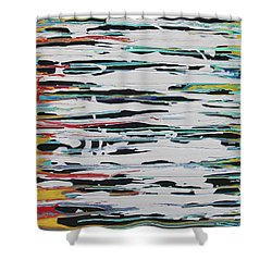 This Is Us Shower Curtain by Cyrionna The Cyerial Artist