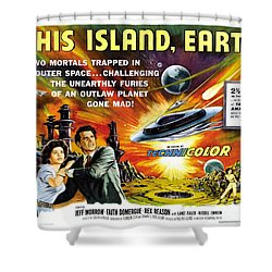 This Island Earth Science Fiction Classic Movie Shower Curtain