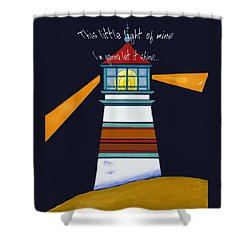 This Little Light Of Mine Shower Curtain by Glenna McRae