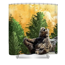This Little Piggy Went To Market Shower Curtain by Diane Schuster