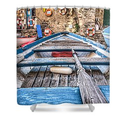 This Old Boat Shower Curtain by Brent Durken