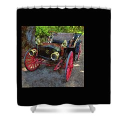 Shower Curtain featuring the photograph This Old Car by Thom Zehrfeld