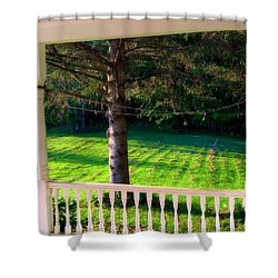 This Old Porch Shower Curtain