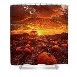 This Our Town Of Halloween Shower Curtain by Phil Koch