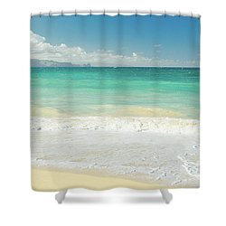 This Paradise Life Shower Curtain by Sharon Mau