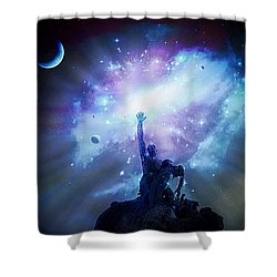 This Poor Man Cried, And The Lord Heard Him, And Saved Him Out Of All His Troubles. Shower Curtain