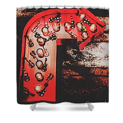 This Way To Rock City Shower Curtain