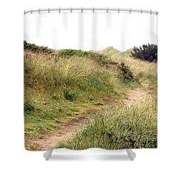 This Way To The Beach Shower Curtain by Joseph Skompski