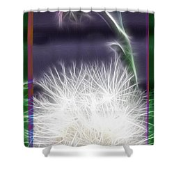 Shower Curtain featuring the photograph Thistle by EricaMaxine  Price