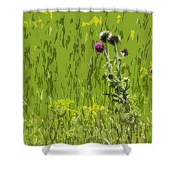 Thistle In Bear Trap Canyon Shower Curtain