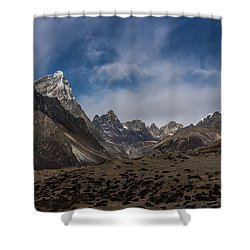 Shower Curtain featuring the photograph Thokla Pass Nepal by Mike Reid