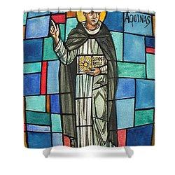 Thomas Aquinas Italian Philosopher Shower Curtain by Photo Researchers
