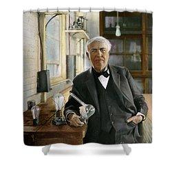 Thomas Edison Shower Curtain by Granger