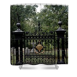 Thomas Jefferson Grave Site Monticello Shower Curtain