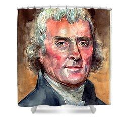 Thomas Jefferson Portrait Shower Curtain