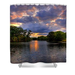 Thomas Lake Park In Eagan On A Glorious Summer Evening Shower Curtain