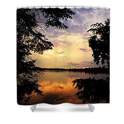 Shower Curtain featuring the photograph Thomas Lake Sunset 2 by Larry Ricker
