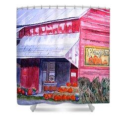 Thomas Market Shower Curtain by Lynne Reichhart