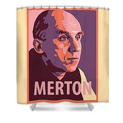 Thomas Merton - Jltme Shower Curtain