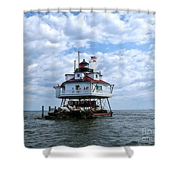 Thomas Point Lighthouse Shower Curtain