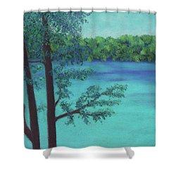 Thoreau's View Shower Curtain