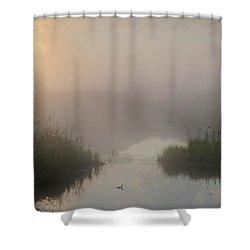 Thorhild County Pond Shower Curtain
