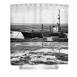 Thornham Harbour, North Norfolk Shower Curtain by John Edwards