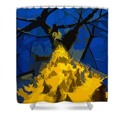 Thorny Tree Blue Sky Shower Curtain by David Lee Thompson