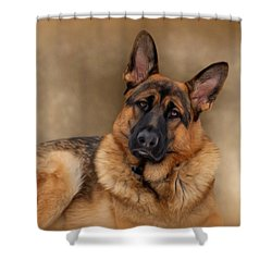Those Eyes Shower Curtain by Sandy Keeton