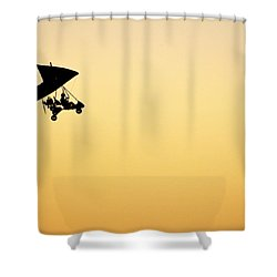 Shower Curtain featuring the photograph Those Magnificent Men In Their Flying Machines by AJ  Schibig