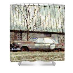 Shower Curtain featuring the photograph Those Were The Days - 49 Buick Roadmaster by Janine Riley