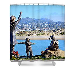 Shower Curtain featuring the photograph Those Who Wait by AJ Schibig