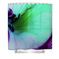 Though The Silence Shower Curtain