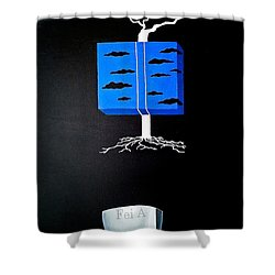 Thought Block Shower Curtain