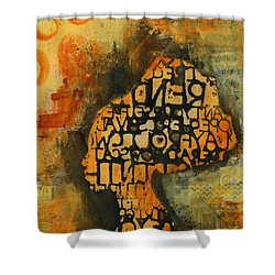 Thought Full Shower Curtain by Angela L Walker