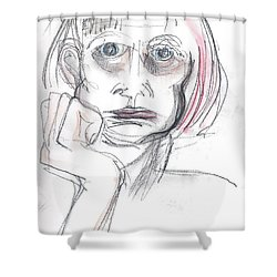 Thoughtful - A Selfie Shower Curtain
