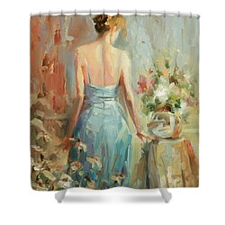 Shower Curtain featuring the painting Thoughtful by Steve Henderson