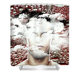 Thoughts Are Like Clouds Passing Through The Sky Shower Curtain