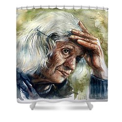 Thoughts Shower Curtain