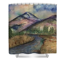 Thoughts Of Glacier Shower Curtain by Annette Berglund