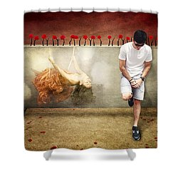 Thoughts Of Love Shower Curtain