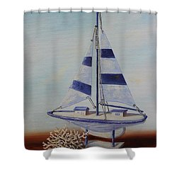 Thoughts Of Sea Shower Curtain