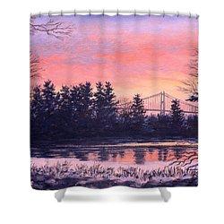 Thousand Island Sunrise Shower Curtain