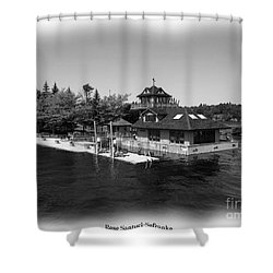 Thousand Islands In Black And White Shower Curtain