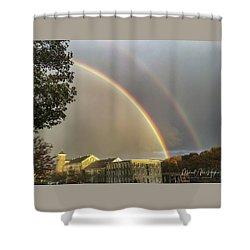 Thread City Double Rainbow  Shower Curtain